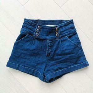 Sailor high waist jeans shorts TWIK